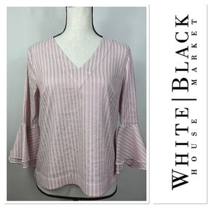 White House Black Market top w bell sleeves